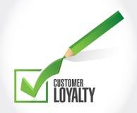 Customer loyalty check mark sign concept Royalty Free Stock Photo