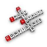 Customer loyalty crossword royalty free stock image