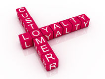 Customer loyalty crossword stock illustration