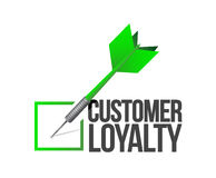 Customer loyalty dart check mark illustration. Design over a white background Royalty Free Stock Images