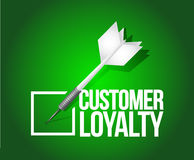 Customer loyalty dart selection.illustration Royalty Free Stock Images