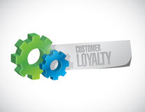 Customer loyalty gear paper sign concept Stock Photo