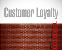 Customer loyalty ladder to the top sign concept Stock Image