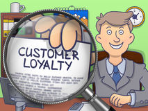 Customer Loyalty through Lens. Doodle Style. Stock Images