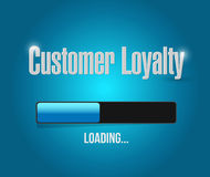 customer loyalty loading bar sign Stock Image