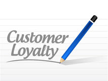 Customer loyalty mesage sign concept Stock Photos