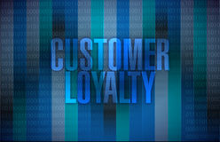 Customer loyalty message sign Royalty Free Stock Photos
