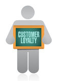 Customer loyalty people board sign concept Royalty Free Stock Photos