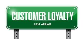 Customer loyalty post sign concept Royalty Free Stock Photos