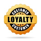 Customer loyalty program gold vector icon. Isolated on white background Royalty Free Stock Images