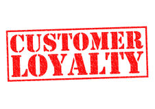 CUSTOMER LOYALTY. Red Rubber Stamp over a white background Royalty Free Stock Images