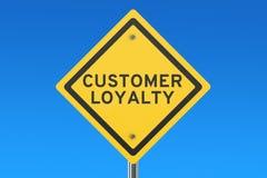 Customer loyalty road sign Stock Photo