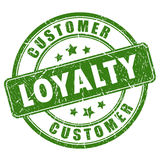 Customer loyalty rubber vector stamp Royalty Free Stock Photos
