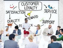 Customer Loyalty Satisfaction Support Strategy Concept Royalty Free Stock Photos