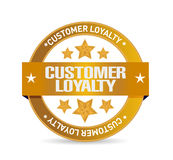 Customer loyalty seal sign concept Royalty Free Stock Image