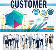 Customer Loyalty Service Efficiency Strategy Concept Royalty Free Stock Images