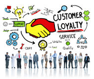 Customer Loyalty Service Support Care Trust Business Concept Stock Image