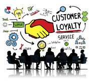 Customer Loyalty Service Support Care Trust Business Concept.  royalty free stock photo