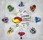 Customer Loyalty Service Support Care Trust Casual Concept.  royalty free stock images