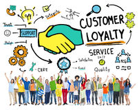 Customer Loyalty Service Support Care Trust Casual Concept Stock Photography