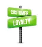 Customer loyalty street sign concept Royalty Free Stock Photos