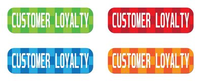 CUSTOMER LOYALTY text, on rectangle, zig zag pattern stamp sign. Royalty Free Stock Image