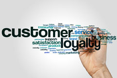Customer loyalty word cloud Stock Photos