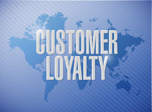 Customer loyalty world message sign concept Royalty Free Stock Images