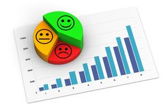 Customer Marketing Analytics Of A Positive Growing Business royalty free stock photography