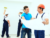Customer meeting architect for house Stock Photography