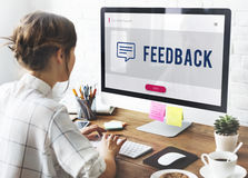 Customer Mobile Communication Speech Bubble Concept stock photo