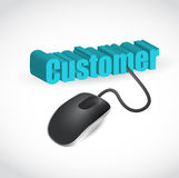 Customer mouse illustration design Stock Photography