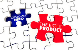 Customer Need Best Right Product Puzzle Royalty Free Stock Photos