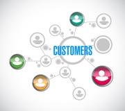 Customer network illustration design. Over a white background stock images