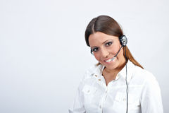 Customer operator Stock Photo