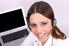 Customer operator Royalty Free Stock Photo