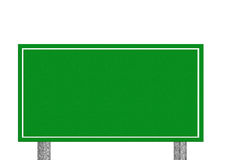 Customer-oriented empty isolated high-speed highway white sign. Stock Photos