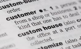 Customer on paper Royalty Free Stock Photography