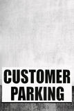 Customer Parking Sign Stock Photos