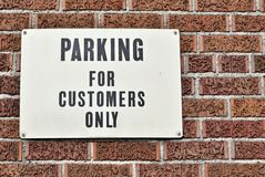 Customer parking only Royalty Free Stock Photography
