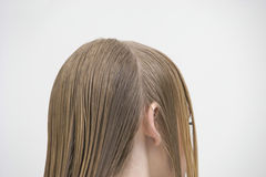 Customer With Parted Wet Hair Stock Images