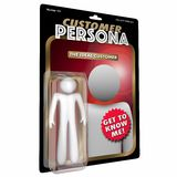 Customer Persona Action Figure Buyer Profile. 3D Illustration Royalty Free Stock Images