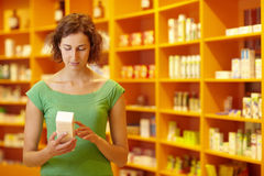 Customer in pharmacy Royalty Free Stock Photo