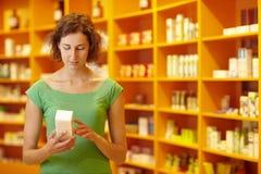 Customer in pharmacy Royalty Free Stock Photo