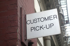 Customer Pick-Up Royalty Free Stock Photos