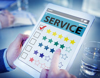 Customer Ranking an Online Service Quality.  royalty free stock images