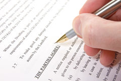 Customer read and sign agreement. Rent contract. customer read and sign agreement Stock Photo