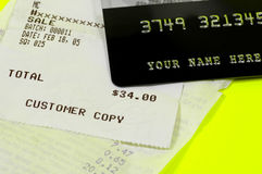 Customer Receipt Royalty Free Stock Photography