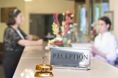 Customer at Reception Royalty Free Stock Photography