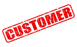 Customer red stamp text Royalty Free Stock Image
